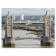 Tower Bridge over River Thames, London, England Canvas Art