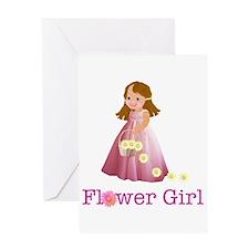Flower Girl Greeting Card