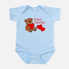 Nana's Valentine Cartoon Bear Body Suit