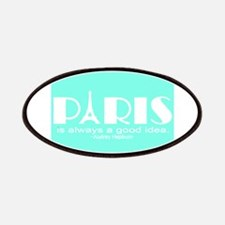 Paris Audrey Hepburn Mint Green Patch
