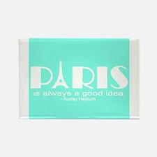 Paris Audrey Hepburn Mint Green Magnets