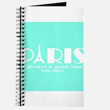 Paris Audrey Hepburn Mint Green Journal