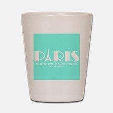 Paris Audrey Hepburn Mint Green Shot Glass