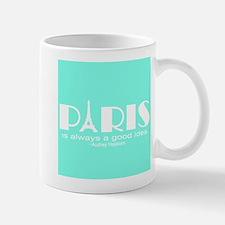 Paris Audrey Hepburn Mint Green Mugs