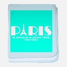 Paris Audrey Hepburn Mint Green baby blanket
