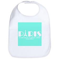 Paris Audrey Hepburn Mint Green Bib