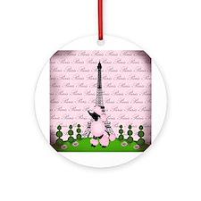 Vintage Pink Paris Ornament (Round)