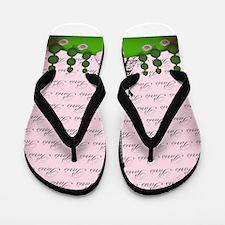 Vintage Pink Paris Flip Flops