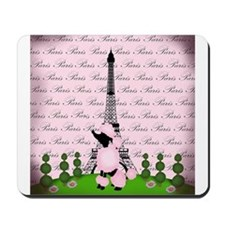Vintage Pink Paris Mousepad