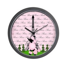 Vintage Pink Paris Wall Clock