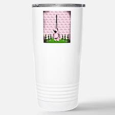 Vintage Pink Paris Travel Mug