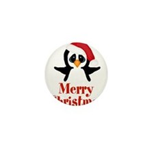 Penguin Christmas Mini Button
