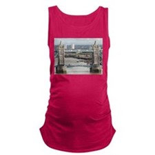 Tower Bridge over River Thames, Maternity Tank Top