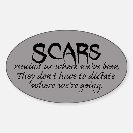 Scars Sticker (Oval)