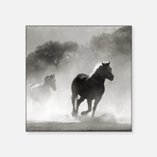 """Galloping Horses Square Sticker 3"""" x 3"""""""