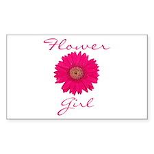 Flower Girl Rectangle Decal