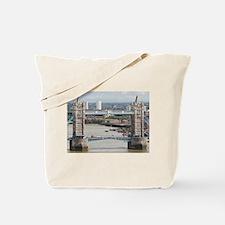 Tower Bridge over River Thames, London, E Tote Bag