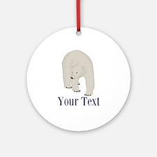 Personalizable Polar Bear Ornament (Round)