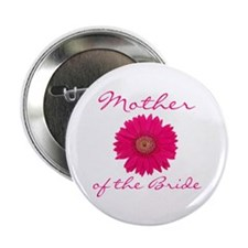 Fuchsia Mother of the Bride Button