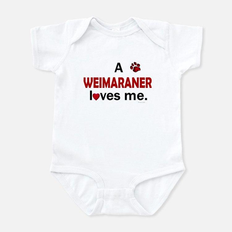 A Weimaraner Loves Me Infant Bodysuit