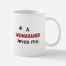 A Weimaraner Loves Me Mug