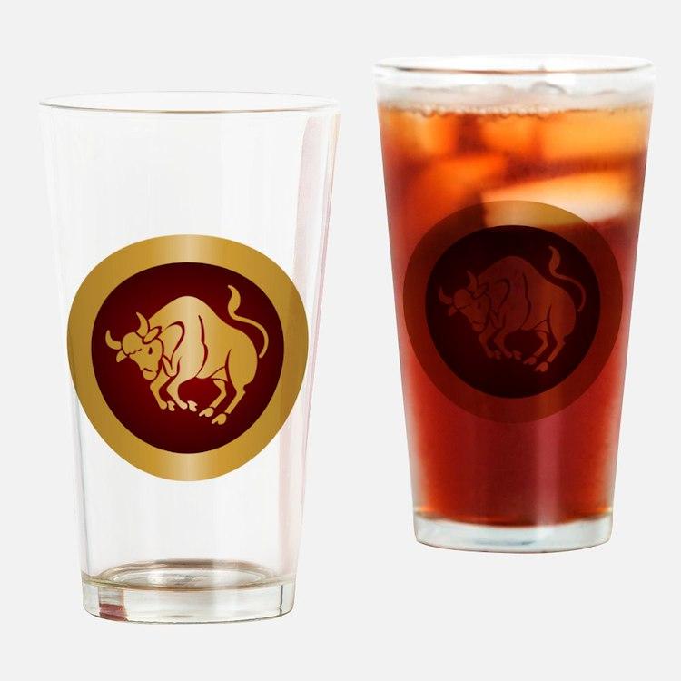 Taurus Gold Drinking Glass