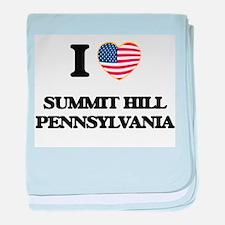 I love Summit Hill Pennsylvania baby blanket