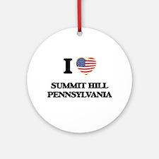 I love Summit Hill Pennsylvania Ornament (Round)