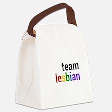 Cute Lesbian Canvas Lunch Bag