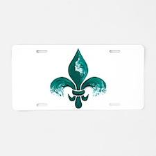 Tulane Fleur-De-Lis Aluminum License Plate