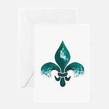 Tulane Fleur-De-Lis Greeting Cards