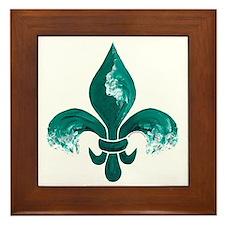 Tulane Fleur-De-Lis Framed Tile