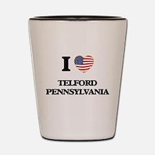 I love Telford Pennsylvania Shot Glass