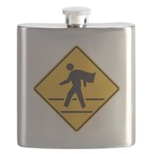 Boy Date logo Wht Flask