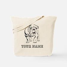 Bulldog (Custom) Tote Bag