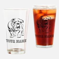 Bulldog (Custom) Drinking Glass
