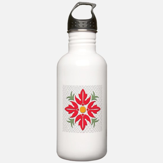 Hawaiian Style Flower Water Bottle