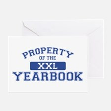 Property Of The Yearbook XXL Greeting Card