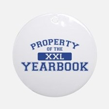 Property Of The Yearbook XXL Ornament (Round)
