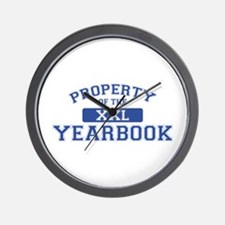 Property Of The Yearbook XXL Wall Clock