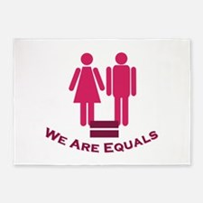 We Are Equals 5'x7'Area Rug
