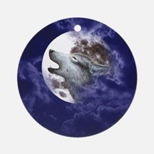 Moon Wolf ~ Ornament (Round)