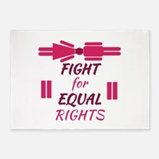 Equal Rights 5'x7'Area Rug