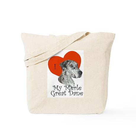 Luv My Merle Great Dane II Tote Bag