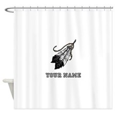 Native American Feathers (Custom) Shower Curtain