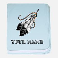 Native American Feathers (Custom) baby blanket