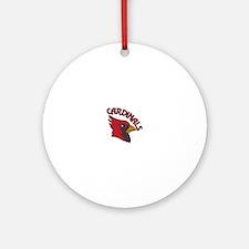 Cardinals Mascot Ornament (Round)