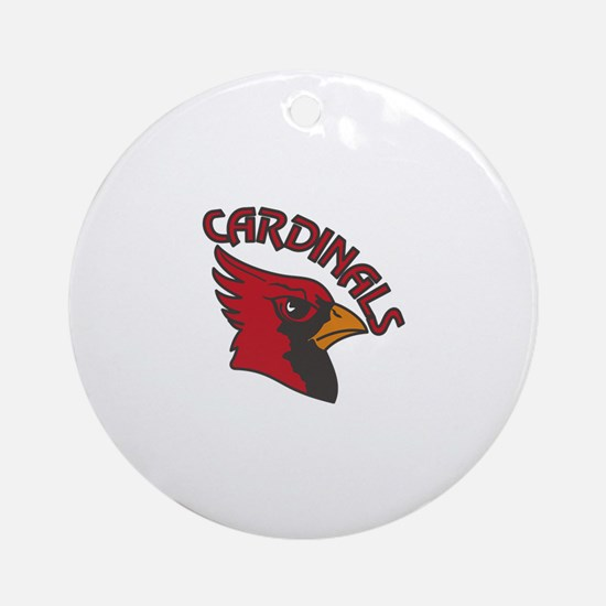 Cardinals Mascot Ornament (Round)