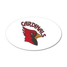 Cardinals Mascot Wall Decal