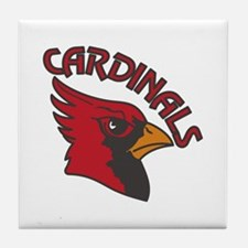 Cardinals Mascot Tile Coaster